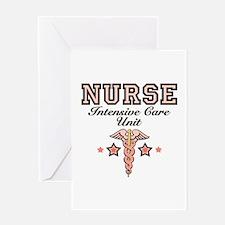 ICU Nurse Caduceus Greeting Card