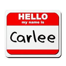 Hello my name is Carlee Mousepad
