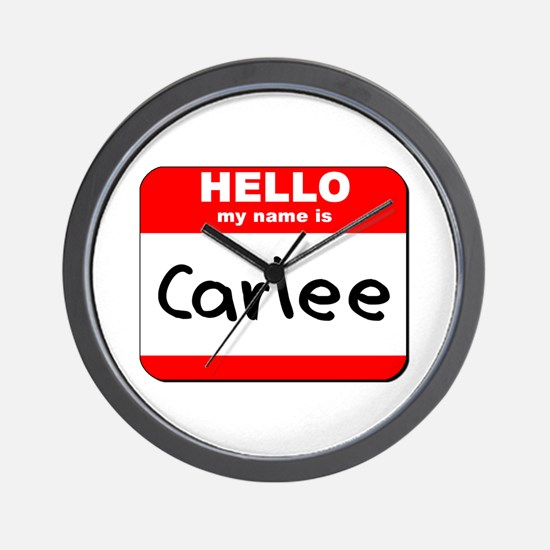 Hello my name is Carlee Wall Clock