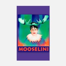 Sarah Palin is Mooselini Rectangle Decal