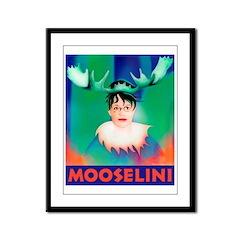 Sarah Palin is Mooselini Framed Panel Print