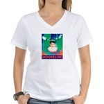 Sarah Palin is Mooselini Women's V-Neck T-Shirt