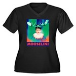 Sarah Palin is Mooselini Women's Plus Size V-Neck