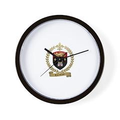 CARIVEAU Family Crest Wall Clock