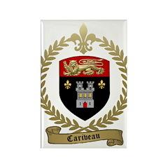 CARIVEAU Family Crest Rectangle Magnet (10 pack)