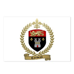 CARIVEAU Family Crest Postcards (Package of 8)