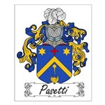 Pasetti Family Crest Small Poster