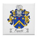 Pasetti Family Crest Tile Coaster