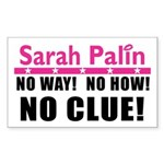 Palin: No Clue! Rectangle Sticker 10 pk)