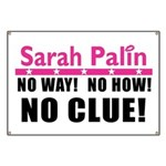 Palin: No Clue! Banner