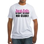 Palin: No Clue! Fitted T-Shirt