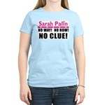 Palin: No Clue! Women's Light T-Shirt