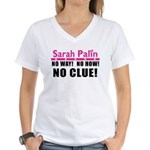 Palin: No Clue! Women's V-Neck T-Shirt