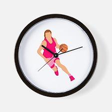 Pink Play Hard Wall Clock