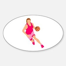 Pink Play Hard Oval Decal