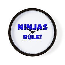 Ninjas Rule! Wall Clock