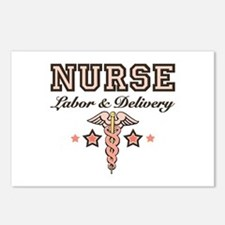 Labor & Delivery Nurse Caduceus Postcards 8 Pa