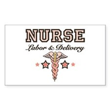 Labor & Delivery Nurse Caduceus Decal