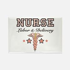 Labor & Delivery Nurse Caduceus Rectangle Magn