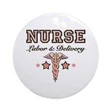Labor & Delivery Nurse Caduceus Ornament (Round)