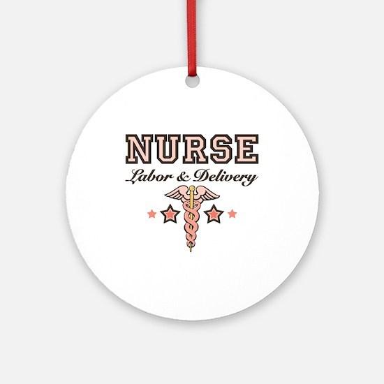 Labor & Delivery Nurse Caduceus Ornament (Round)