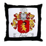 Pasini Family Crest Throw Pillow