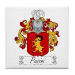 Pasini Family Crest Tile Coaster