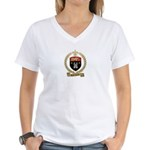 CORRIVEAU Family Crest Women's V-Neck T-Shirt