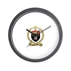 CORRIVEAU Family Crest Wall Clock