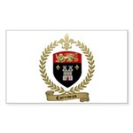 CORRIVEAU Family Crest Rectangle Sticker 10 pk)