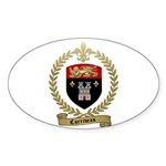 CORRIVEAU Family Crest Oval Sticker (10 pk)