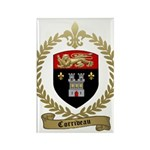 CORRIVEAU Family Crest Rectangle Magnet (100 pack)