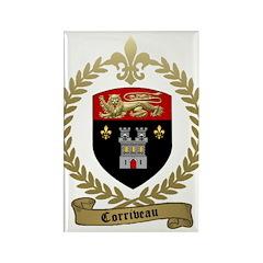 CORRIVEAU Family Crest Rectangle Magnet (10 pack)