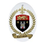 CORRIVEAU Family Crest Oval Ornament