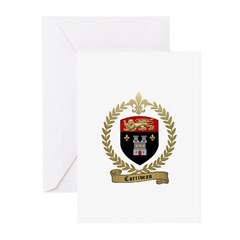 CORRIVEAU Family Crest Greeting Cards (Pk of 10)