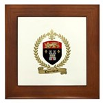 CORRIVEAU Family Crest Framed Tile