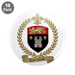 """CORRIVEAU Family Crest 3.5"""" Button (10 pack)"""