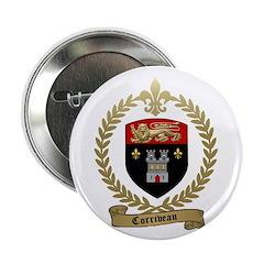 """CORRIVEAU Family Crest 2.25"""" Button"""