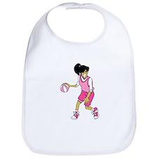 Basketball Girl Bib