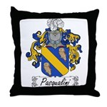Pasqualini Family Crest Throw Pillow