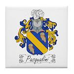 Pasqualini Family Crest Tile Coaster