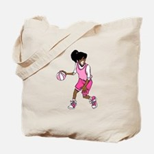 Basketball Girl Tote Bag