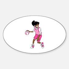 Basketball Girl Oval Decal