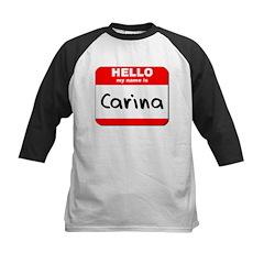 Hello my name is Carina Kids Baseball Jersey
