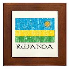 Rwanda Flag Framed Tile