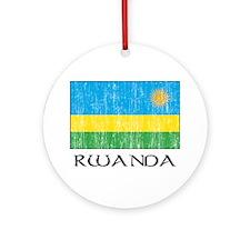 Rwanda Flag Ornament (Round)