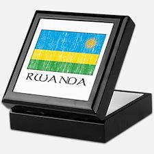 Rwanda Flag Keepsake Box
