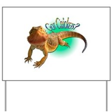 Bearded Dragon Got Crickets 5 Yard Sign