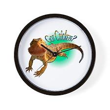 Bearded Dragon Got Crickets 5 Wall Clock