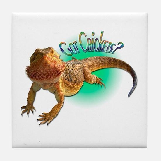 Bearded Dragon Got Crickets 5 Tile Coaster